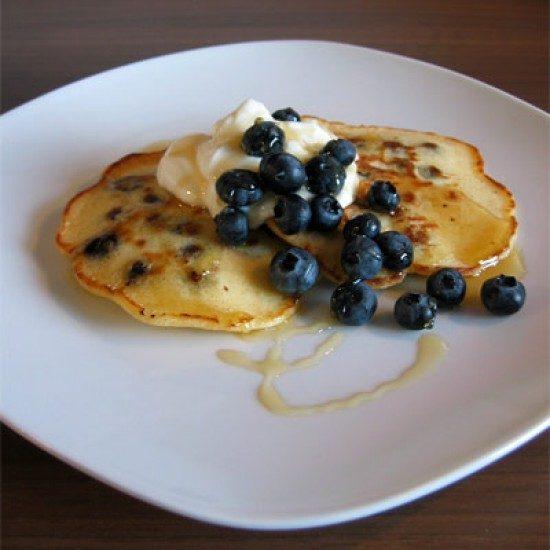 Rezept Blaubeer-Pancakes mit Quarkcreme
