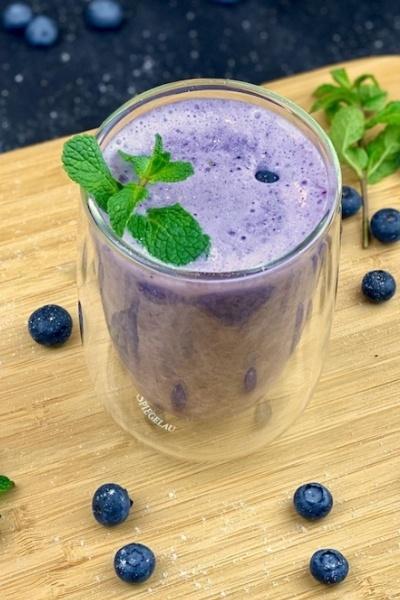 Rezept Blaubeer Power Smoothie - Blaubeer-Protein Smoothie Rezept
