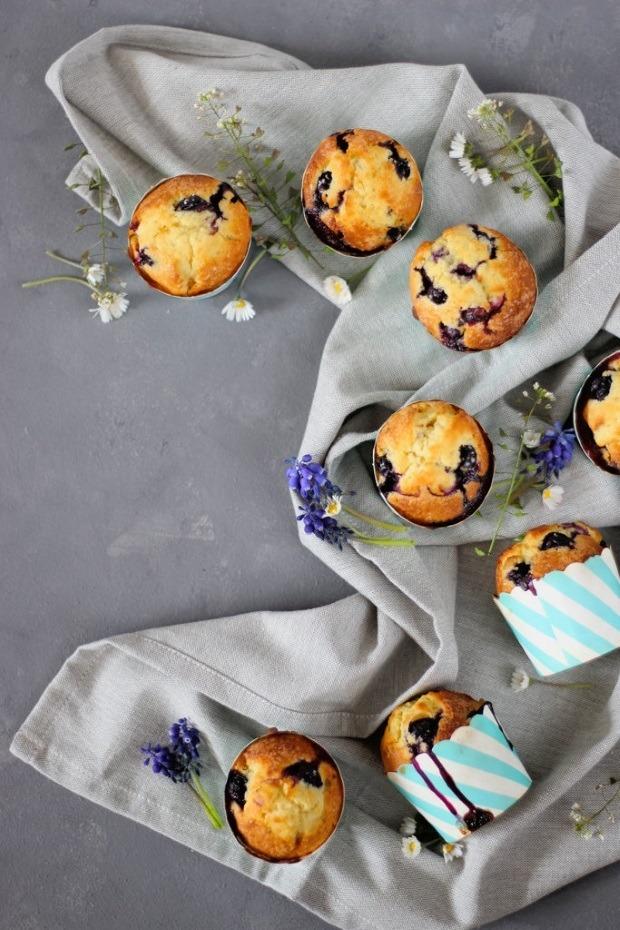 Rezept Blaubeer-Vanille Muffins