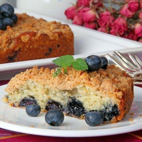 Rezept Blaubeer-Walnuss-Streusel Kuchen