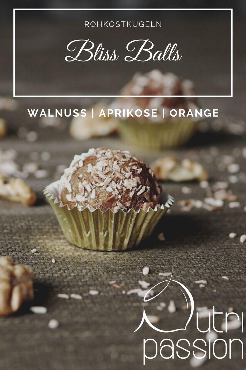 Rezept Bliss Balls | Walnuss -Aprikose - Orange
