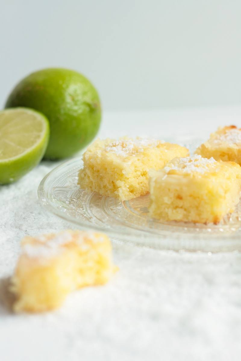 Rezept Blondies mit Kokos und Limette