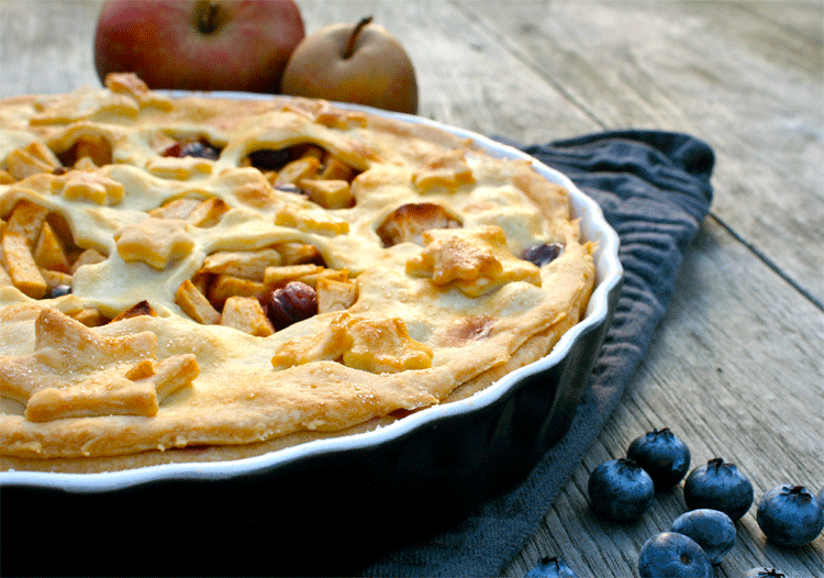 Rezept Blueberry Apple Pie