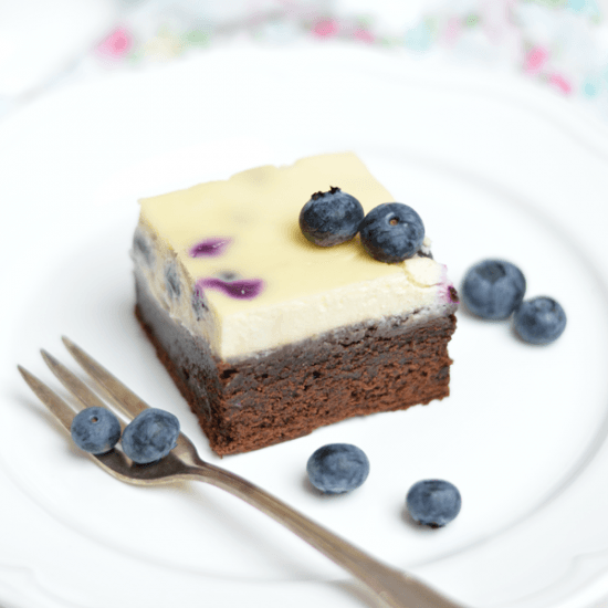 Rezept Blueberry Cheesecake Brownies