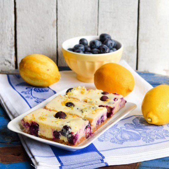 Rezept Blueberry Lemon Bars