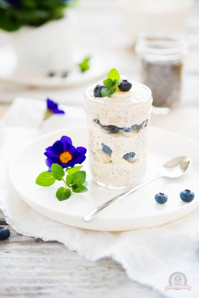 Rezept Blueberry Overnight Oats