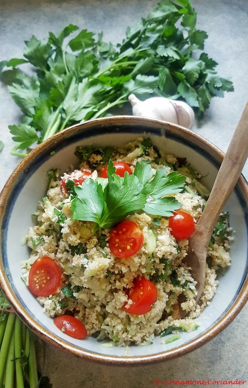 Rezept Blumenkohl Reis Tabouleh