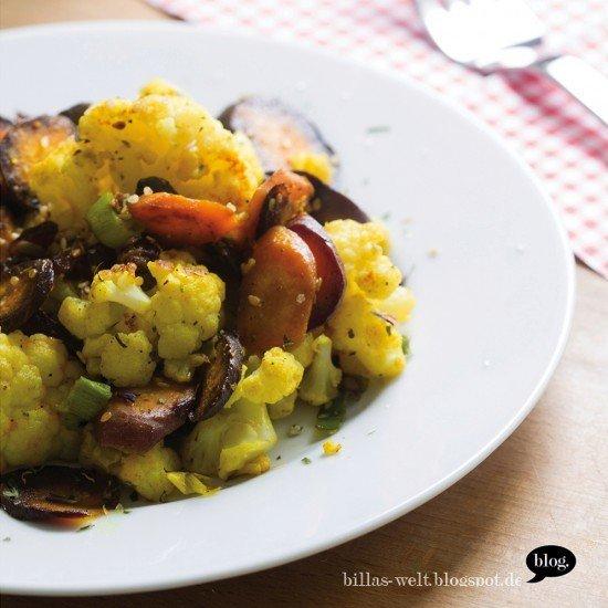 Rezept Blumenkohl-Salat mit Purple Haze-Möhren