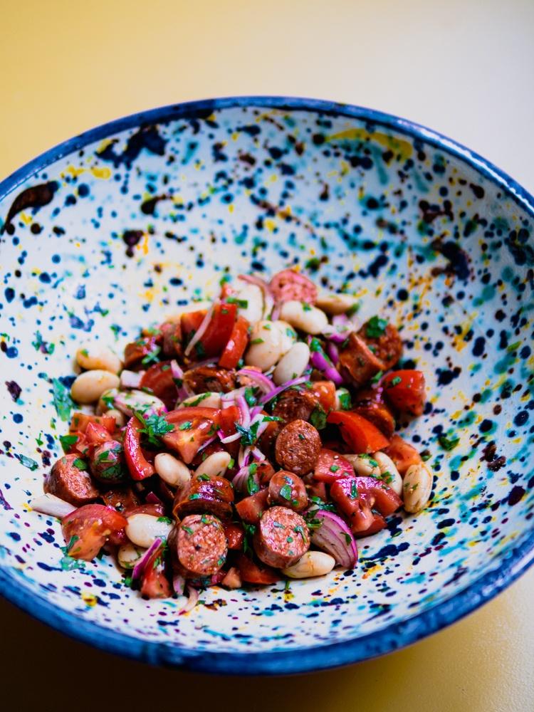 Rezept Bohnensalat andaluz