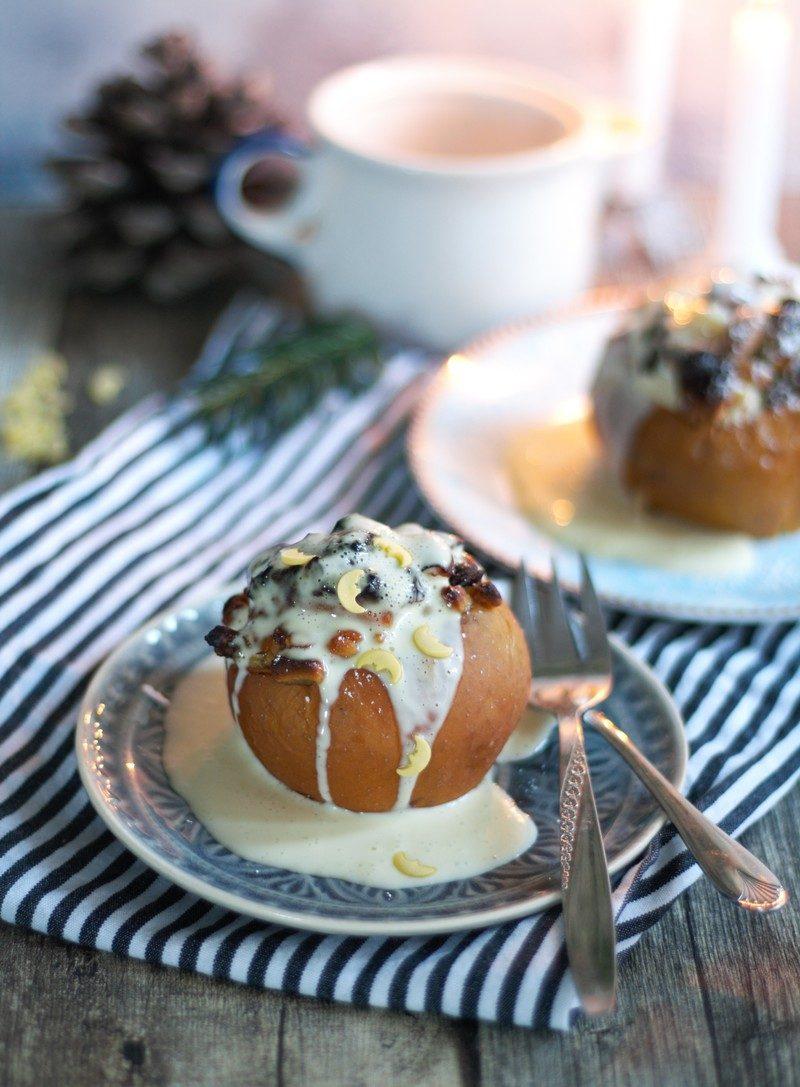 Rezept Bratäpfel mit selbst gemachter Vanillesoße