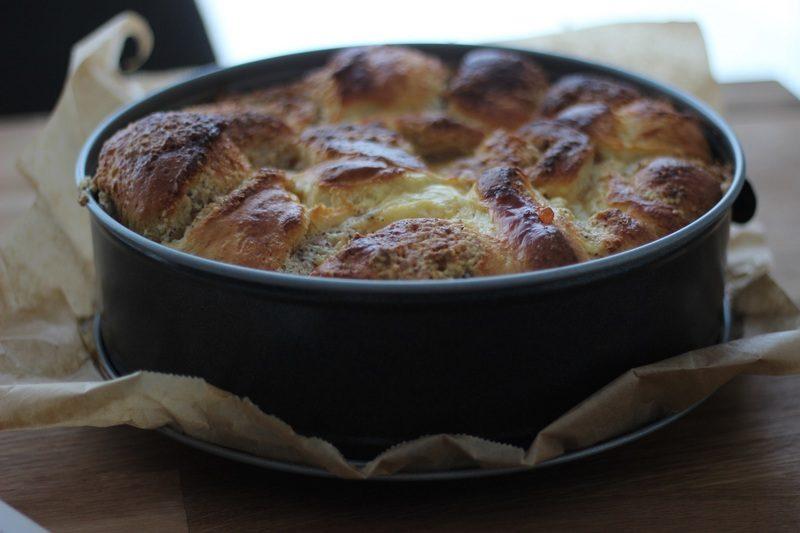 Rezept Brioche-Schnecken mit weißer Schokolade und Mandeln