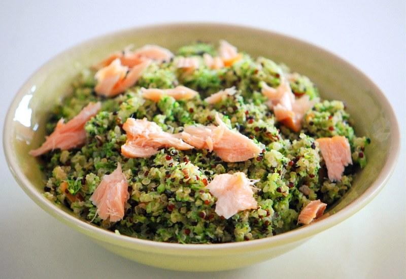 Rezept Brokkoli Quinoa Bowl mit Stremellachs