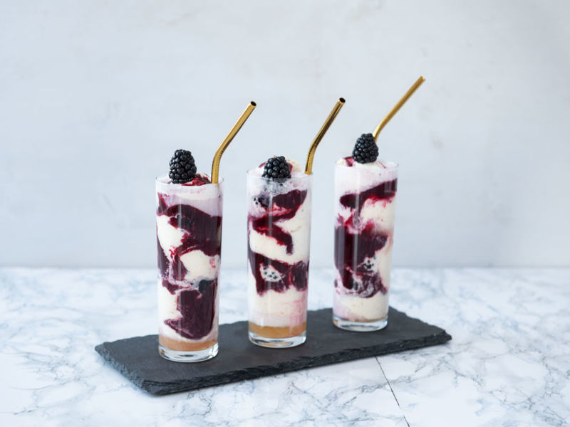 Rezept Brombeer-Eiscocktail mit Lillet