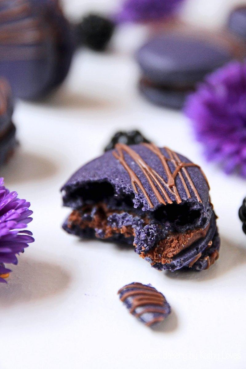 Rezept Brombeer Schokoladen Macarons