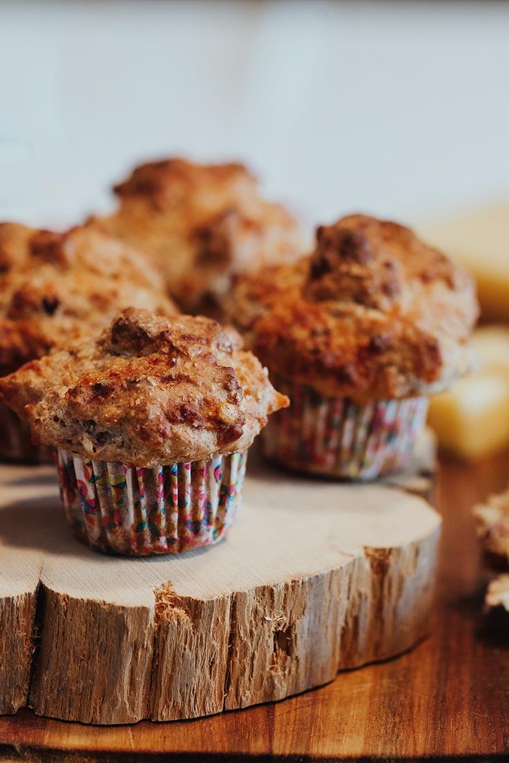Rezept Brot-Muffins mit Schinken und Käse