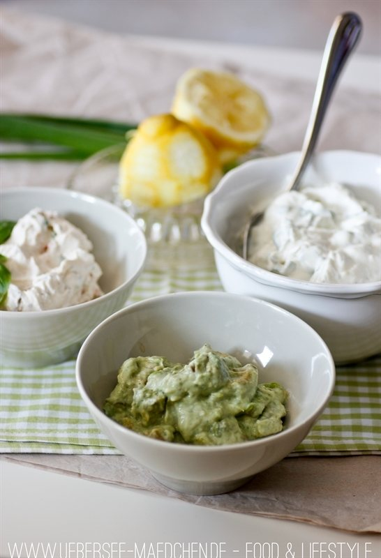 Rezept Brotaufstriche: Avocado, Frühlingsquark und Tomatencreme