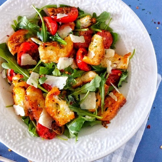 Rezept Brotsalat aglio, olio e pepperoncino