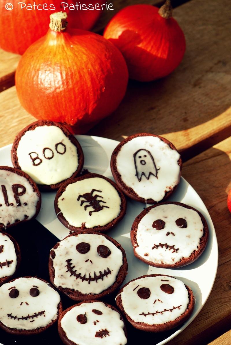 Rezept Brownie-Amerikaner mit Halloween-Fratzen