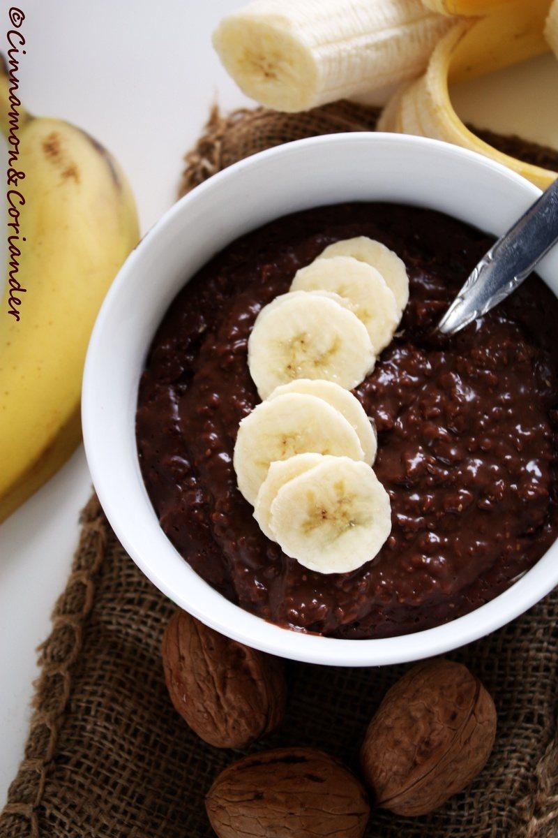 Rezept Brownie Batter & Banana Morning Oats