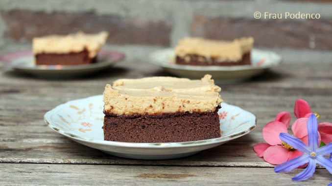 Rezept Brownie mit Erdnussbutter-Topping