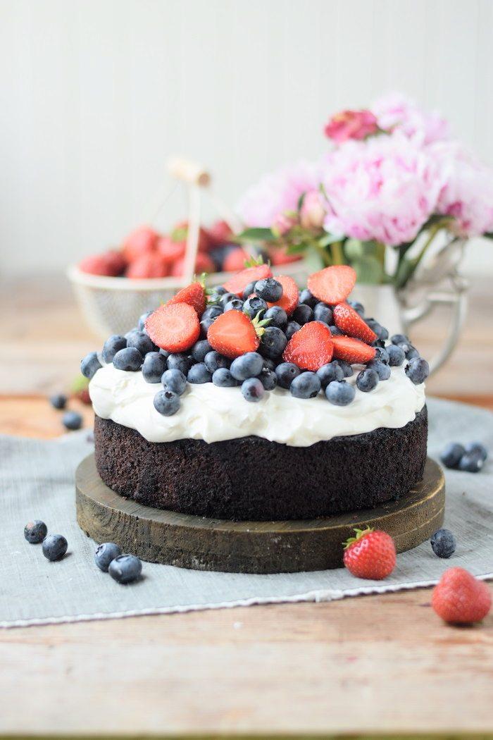 Rezept Brownie Törtchen mit Beeren und Quark-Creme