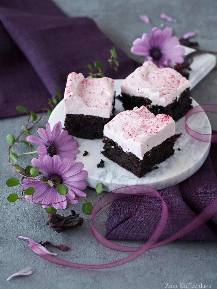 Rezept Brownies mit Hibiskus-Frosting