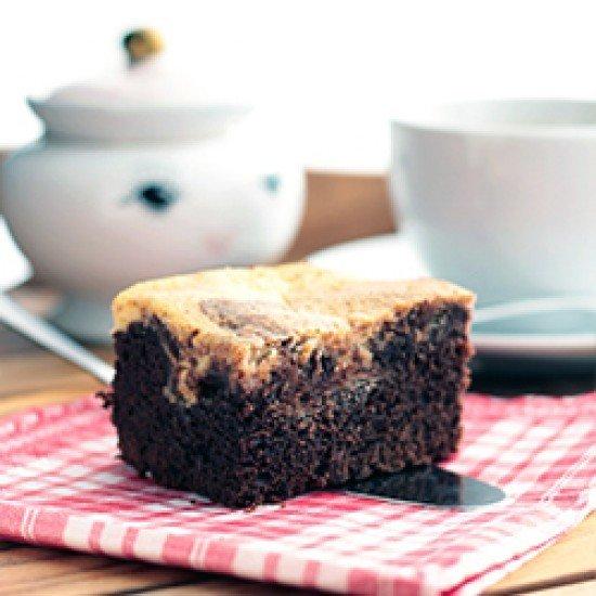 Rezept Brownies mit Käsekuchentopping