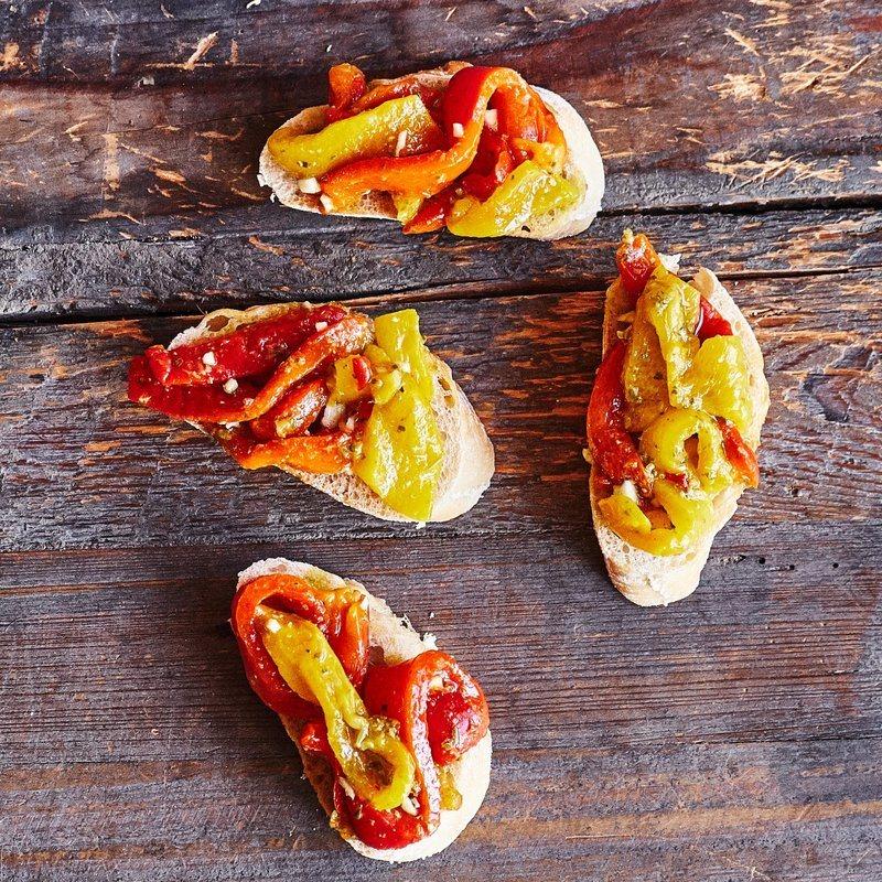 Rezept Bruschetta mit gegrillten Paprika