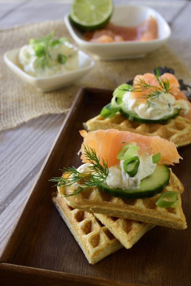 Rezept Buchweizen-Dinkelwaffeln mit Räucherlachs