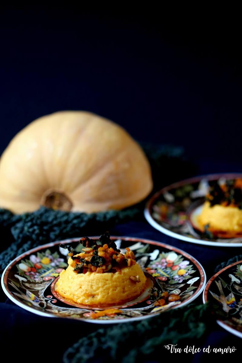 Rezept Budini di zucca con granola piccante