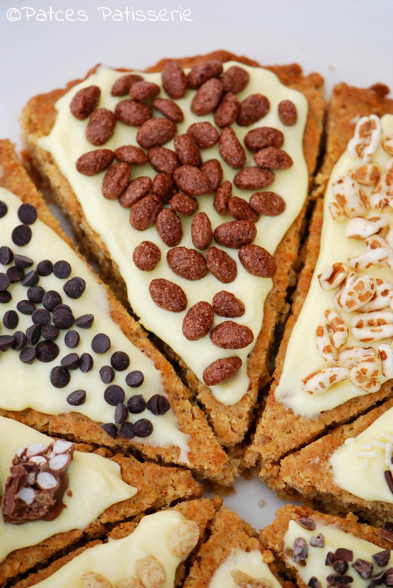 Rezept Bunte Cookie Pizza mit Toppings