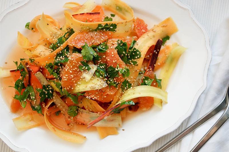 Rezept Bunte Karotten mit Cara Cara Orangen