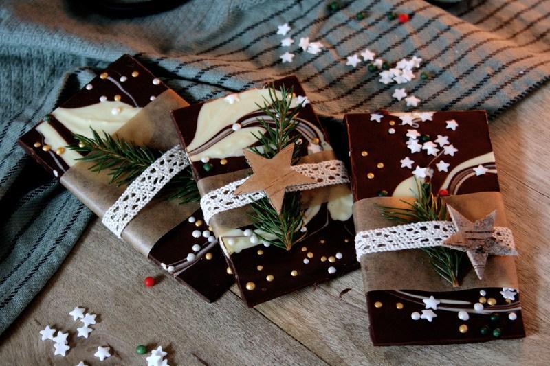 Rezept Bunte Schokolade zum Verschenken