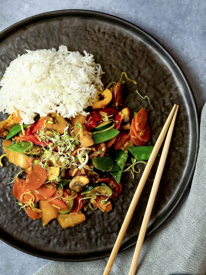 Rezept Buntes Wokgemüse mit Kurkuma