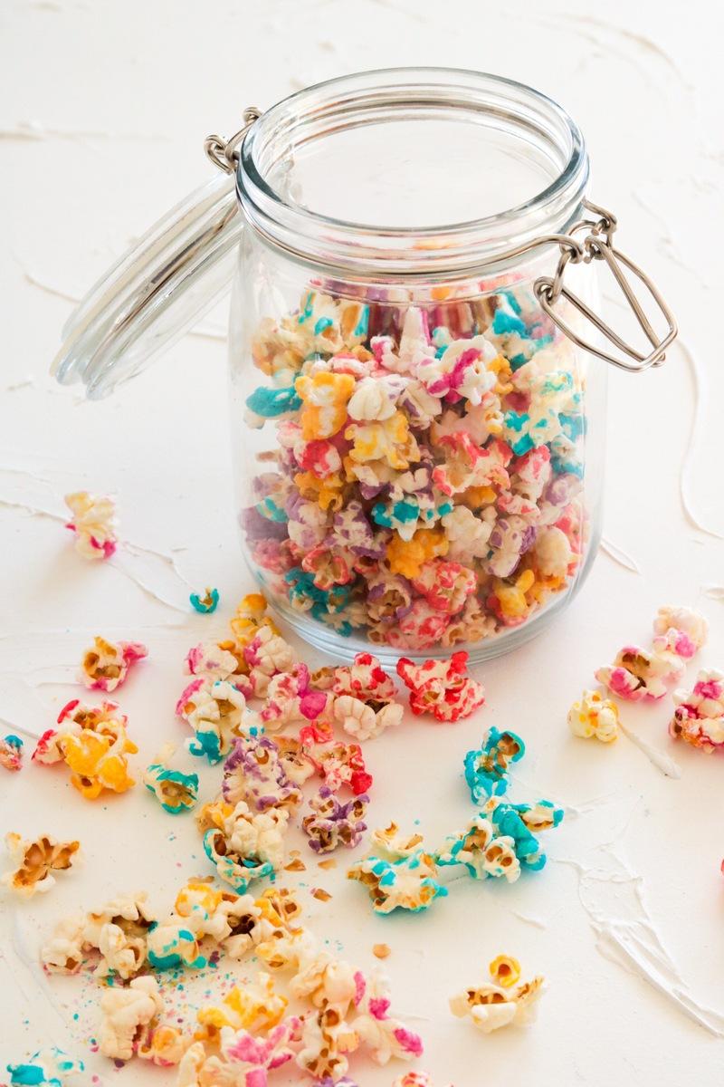 Rezept Buntes Zuckerguss - Popcorn