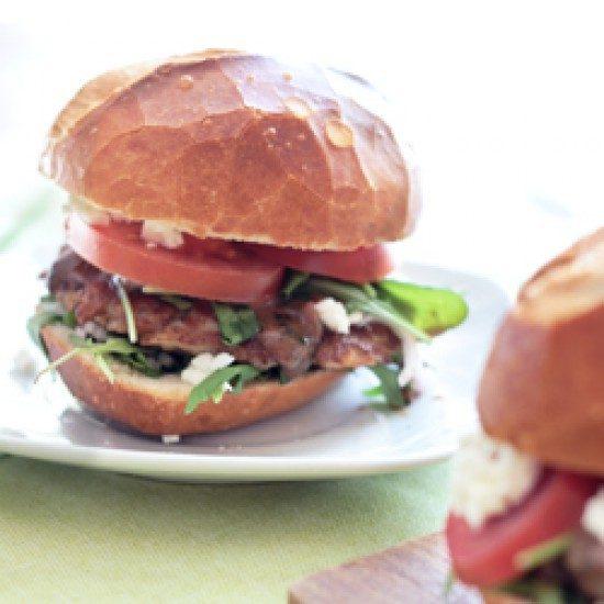 Rezept Burger mit Feta und Rucola