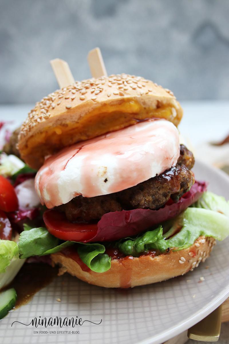 Rezept Burger mit Rindfleisch und Ziegenkäse