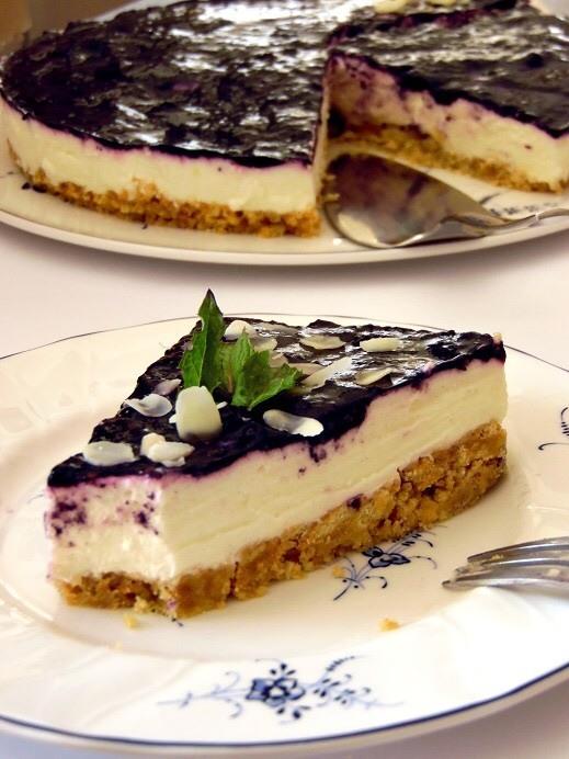 Rezept Butterkeks Kuchen ohne Backen: mit Sahne Brombeer Creme