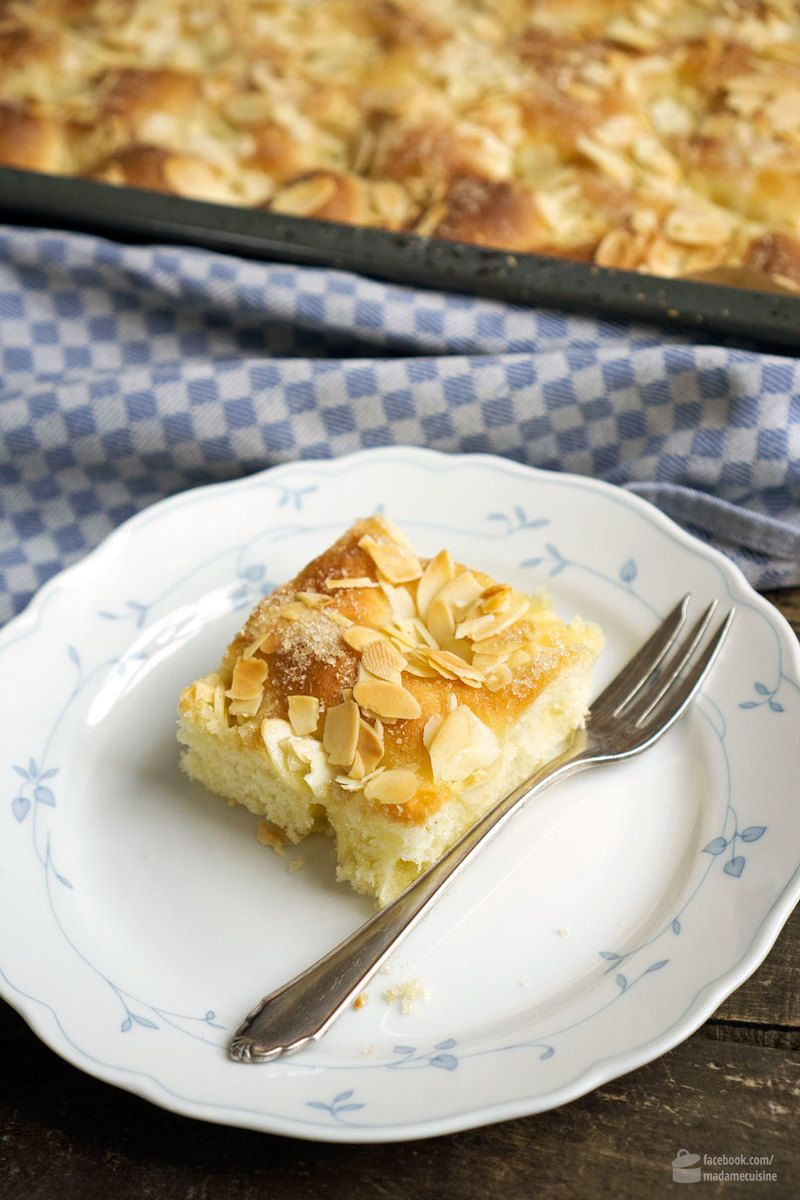 Rezept Butterkuchen mit Mandeln vom Blech