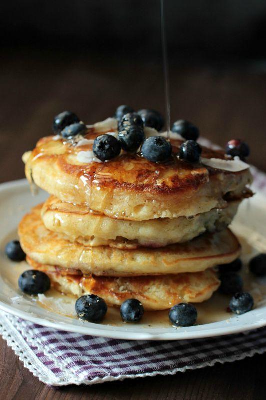 Rezept Buttermilch-Blaubeer Pancakes