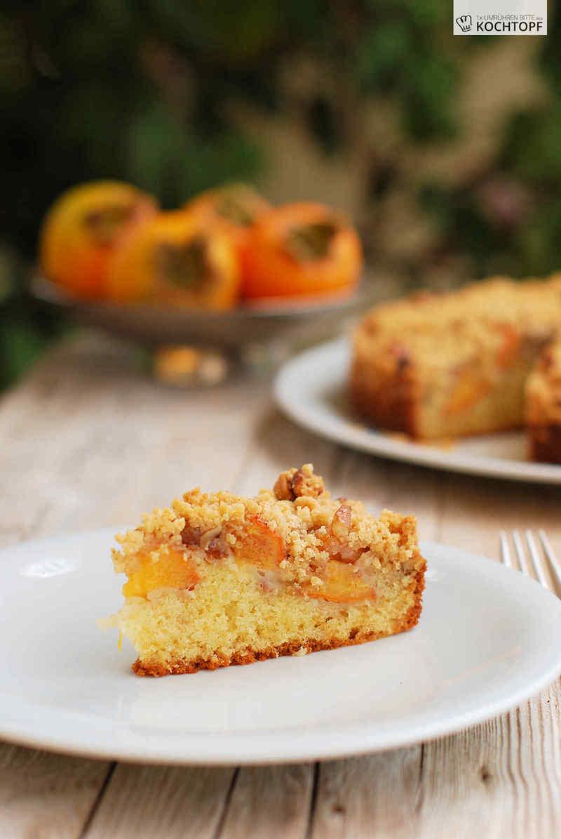 Rezept Buttermilch-Streusel-Kuchen mit Kaki