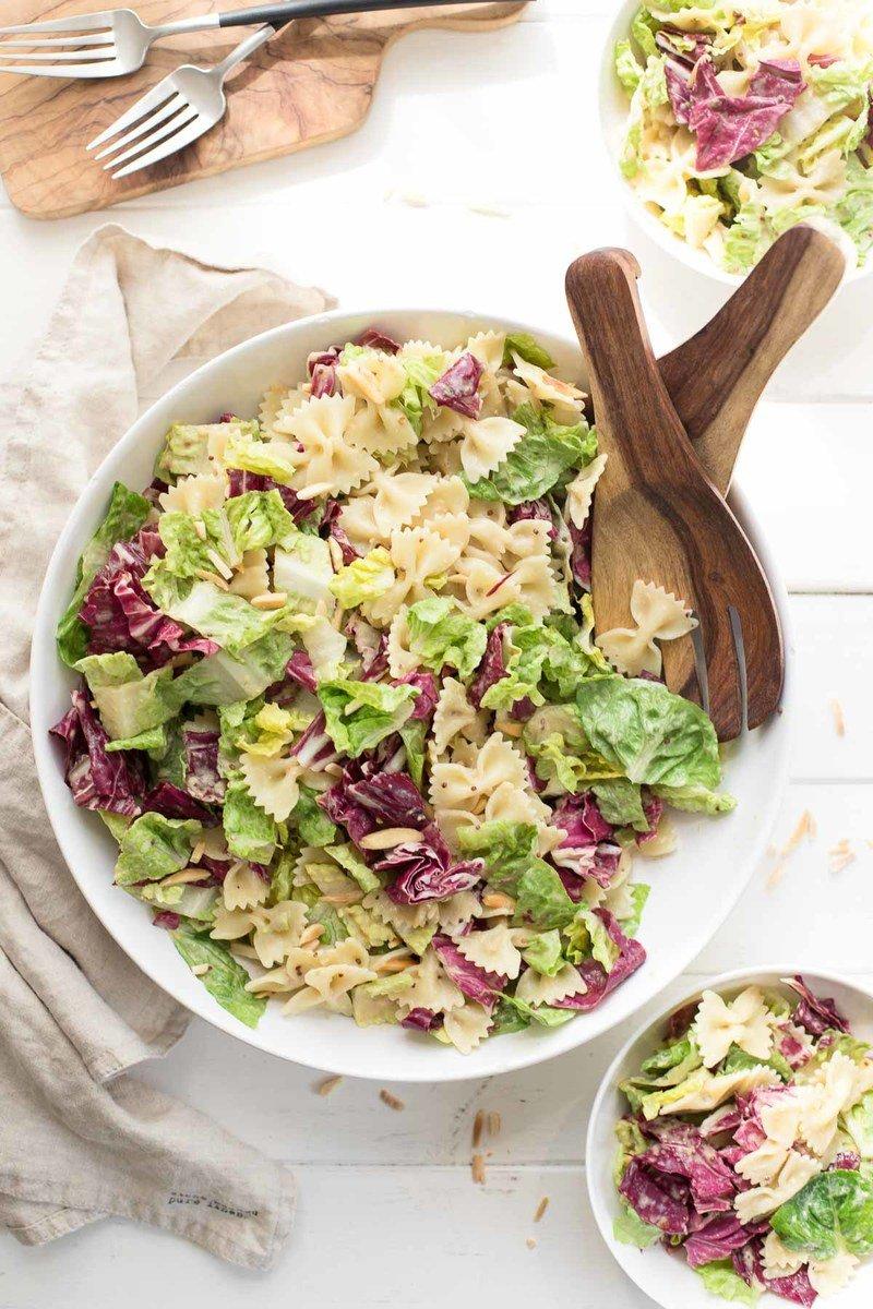 Rezept Caesar Pasta Salat (vegan)