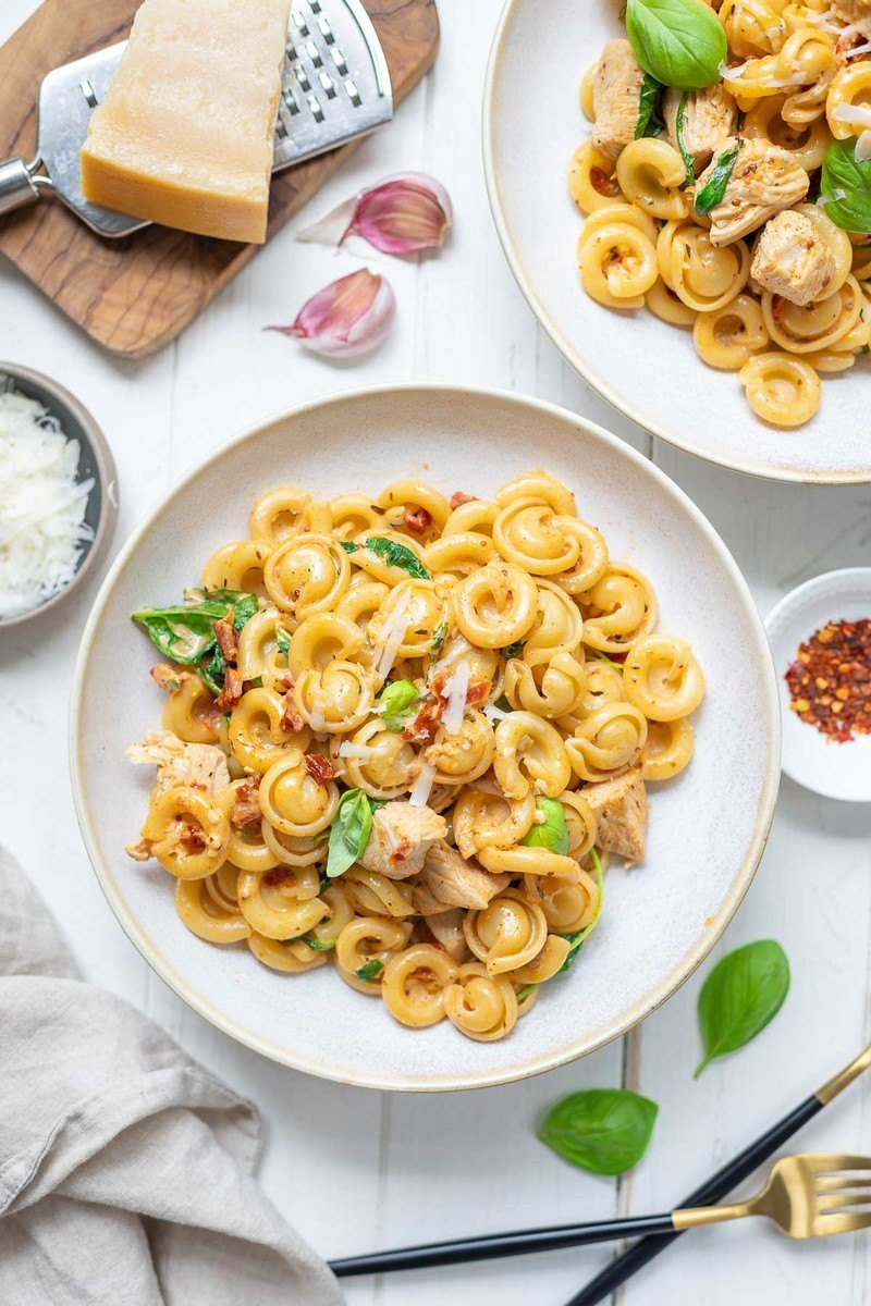 Rezept Cajun Hähnchen-Pasta mit Crème Fraîche