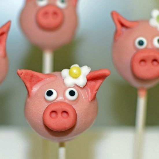 Rezept Cake Pop Glücksschweinchen
