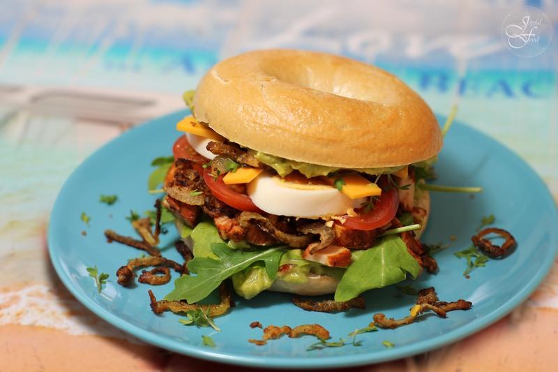 Rezept California Bagel Burger