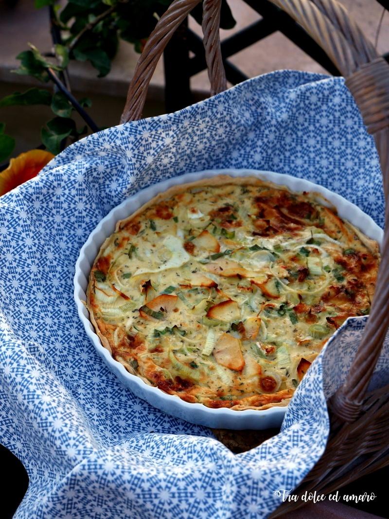 Rezept Camembert-Quiche mit Äpfeln und Frühlingszwiebeln