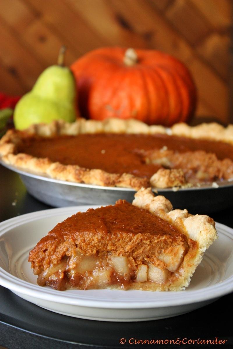 Rezept Caramel Pear Pumpkin Pie