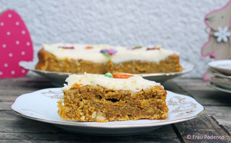 Rezept Carrot Cake mit Creamcheese Frosting