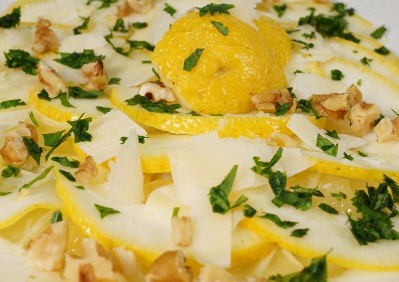 Rezept Cedri-Zitronen Carpaccio mit Parmesan & Walnüssen