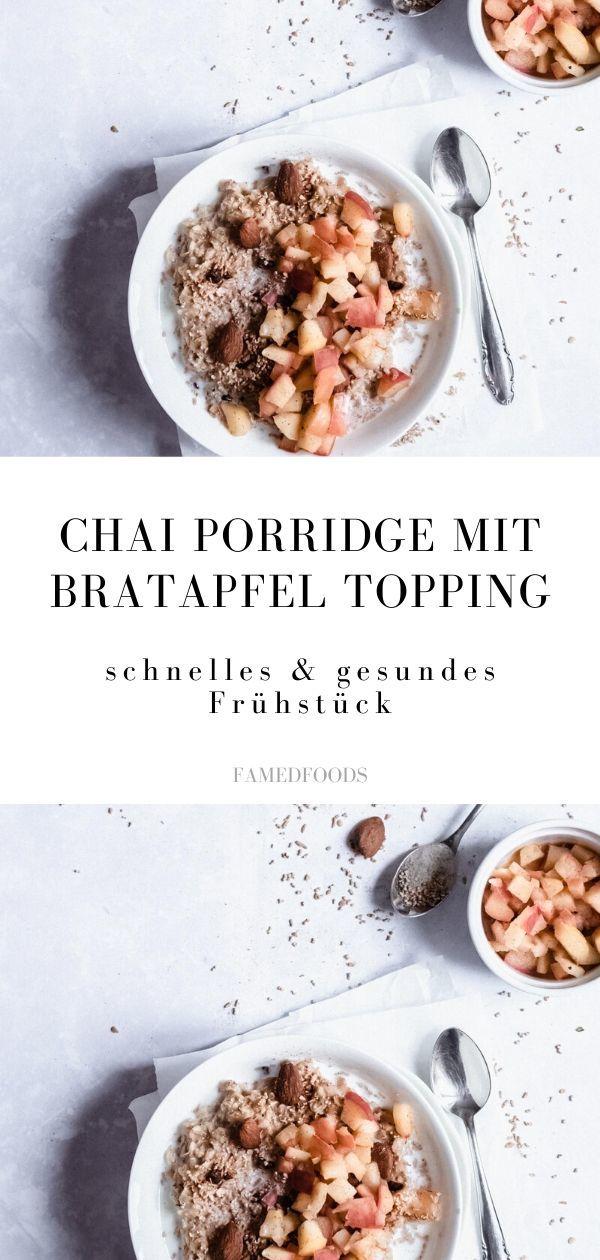 Rezept Chai Porridge mit Bratapfel Topping